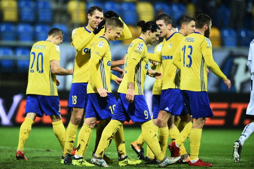 Arka Gdynia odniosła najwyższe zwycięstwo w historii swoich występów w Ekstraklasie /Jan Dzban /PAP