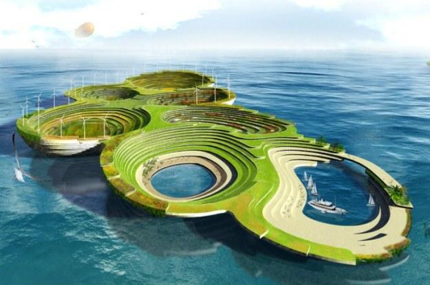 Arka Noego to ogromna barka z pełną infrastrukturą miejską (Fot. eVolo) /Internet