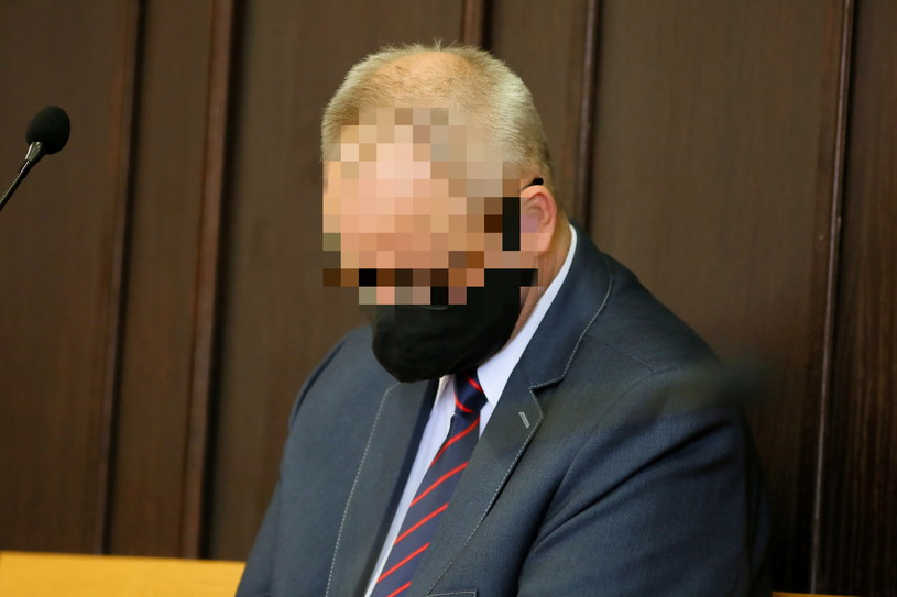 Arkadiusz H. na sali rozpraw Sądu Rejonowego w Pleszewie podczas wcześniejszej rozprawy /Tomasz Wojtasik /PAP
