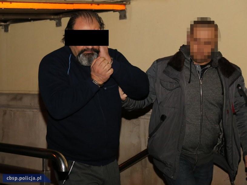 """Arkadiusz Ł., ps. """"Hoss"""", został zatrzymany na początku lutego /CBŚP/cbsp.policja.pl /"""