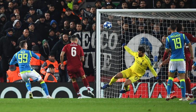 Arkadiusz Milik blisko gola w końcówce /AFP
