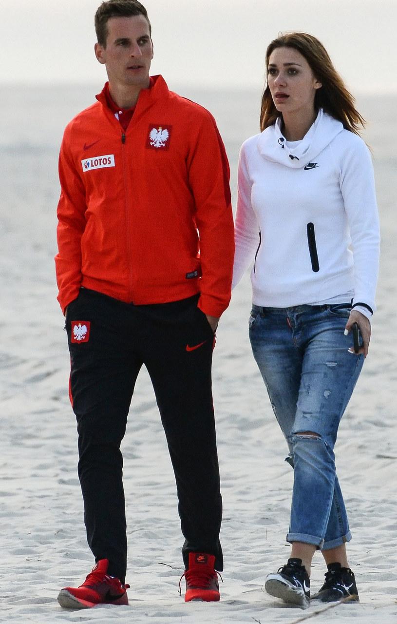 Arkadiusz Milik i Jessica Ziółek /Łukasz Dejnarowicz /Agencja FORUM