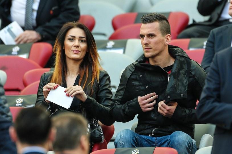Arkadiusz Milik i Jessica Ziółek /Kamil Piklikieiwcz /East News
