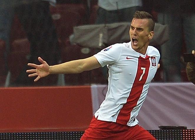 Arkadiusz Milik jest skuteczny w reprezentacji Polski i Ajaksie Amsterdam /AFP