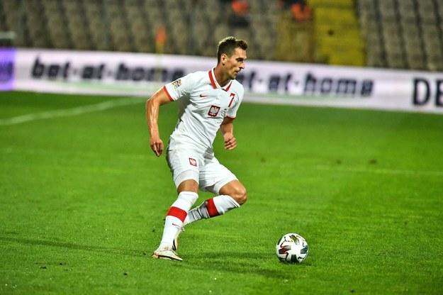 Arkadiusz Milik podczas meczu Ligi Narodów Polska - Bośnia i Hercegowina /Arkadiusz Milik /PAP