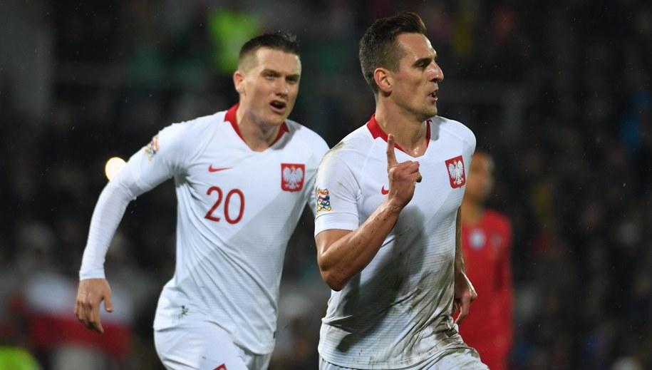 Arkadiusz Milik podczas meczu z Portugalią /Bartłomiej  Zborowski /PAP