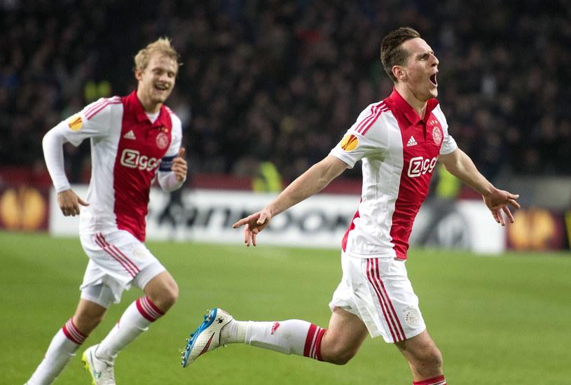 Arkadiusz Milik strzelił jedynego gola w meczu Ajax - Legia /PAP/EPA