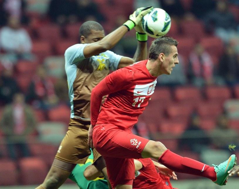 Arkadiusz Milik w meczu reprezentacji Polski /AFP
