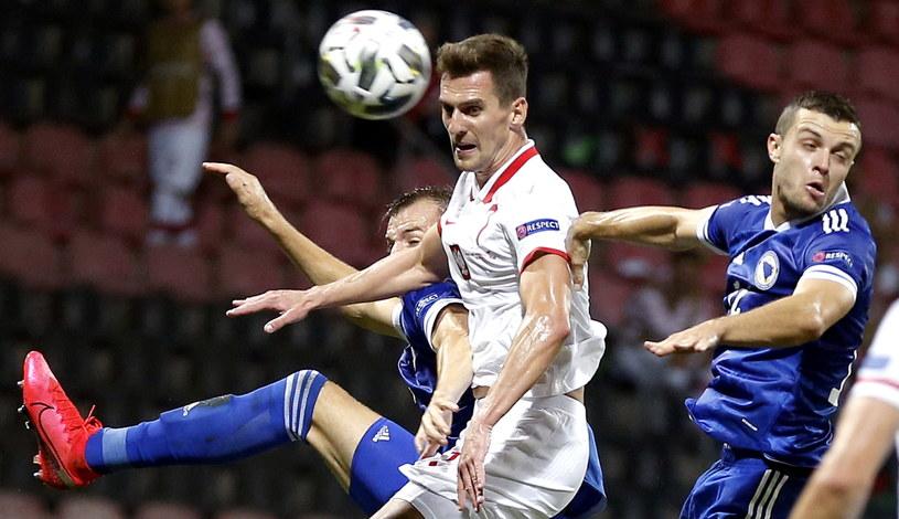 Arkadiusz Milik w meczu z Bośnią i Hercegowiną /PAP/EPA
