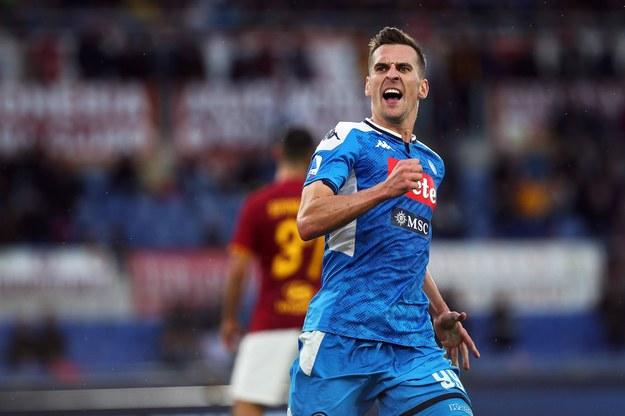 Arkadiusz Milik w niedawnym ligowym meczu Napoli z AS Roma, 2 listopada /FEDERICO PROIETTI /PAP/Newscom