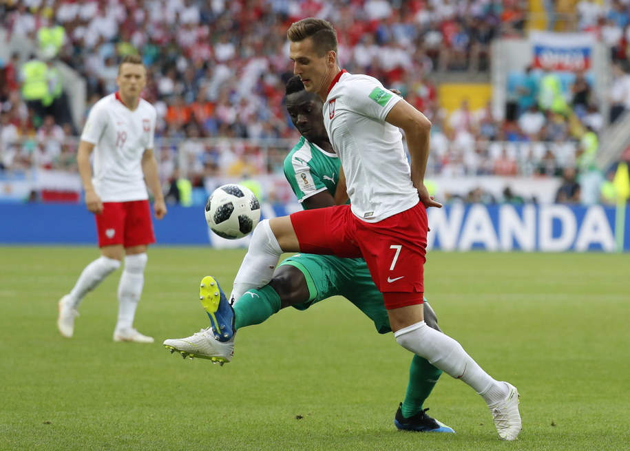 Arkadiusz Milik w trakcie meczu z Senegalem /Felipe Trueba /PAP/EPA