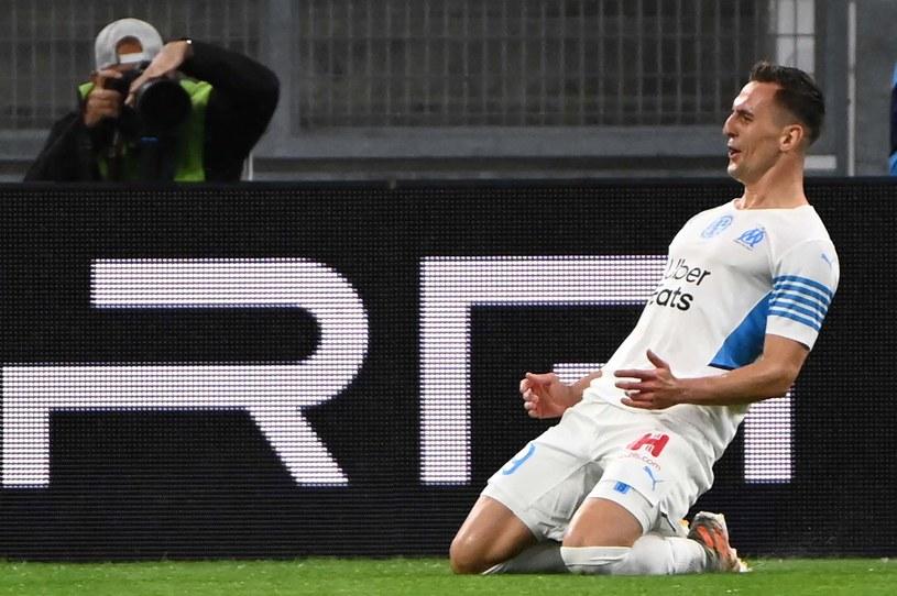 Arkadiusz Milik zdobył pierwszego hat-tricka w Ligue 1 /CHRISTOPHE SIMON /AFP