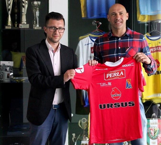 Arkadiusz Onyszko (z prawej) z Leszkiem Bartnickim, prezesem Motoru Lublin /Twitter /