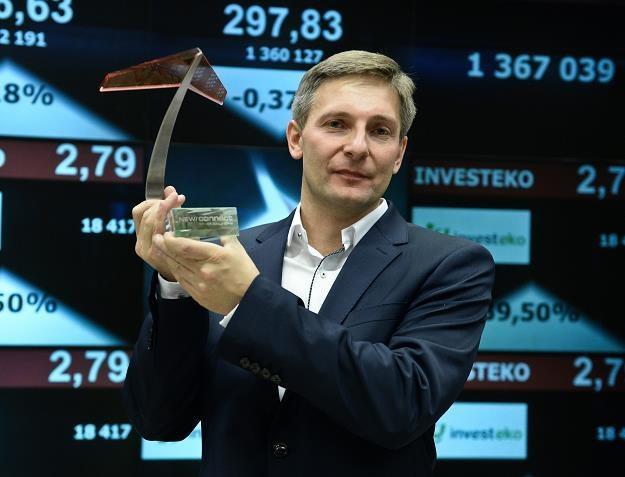 Arkadiusz Primus, prezes Investeko w czasie debiutu an NewConnect /PAP