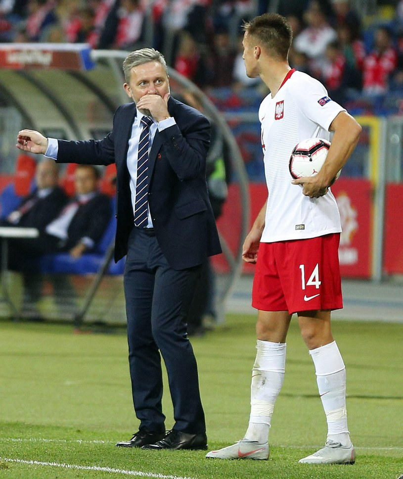 Arkadiusz Reca i trener Jerzy Brzęczek /Fot. Tomasz Wantula /Newspix