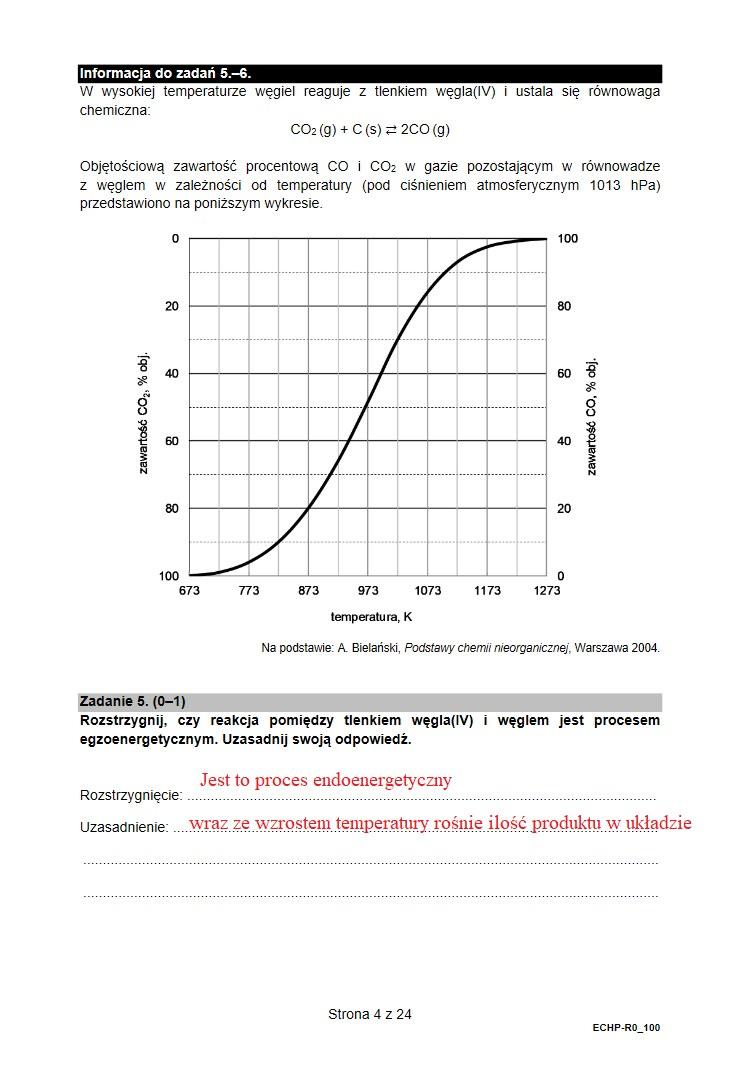 Arkusz CKE i odpowiedzi z chemii /INTERIA.PL