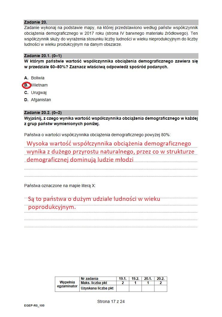 Arkusz CKE  z geografii. Proponowane odpowiedzi /INTERIA.PL