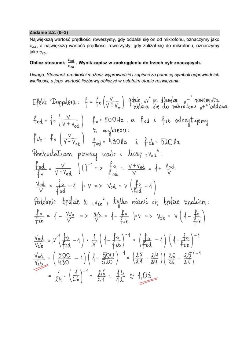 Arkusz z matury z fizyki /INTERIA.PL