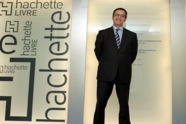 Arnaud Nourry, właściciel Hachette Livre po podpisaniu umowy z Google /AFP