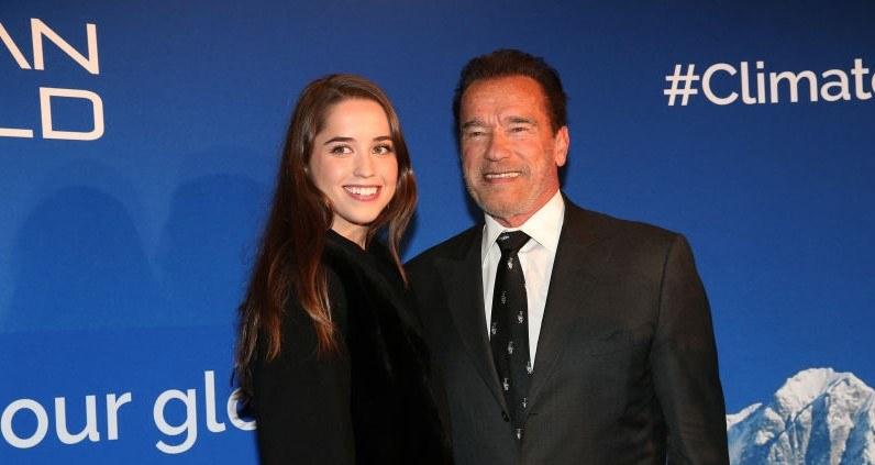 Arnold Schwarzenegger i jego córka Christina. Aktor jest ojcem sporej gromadki dzieci /Gisela Schober / Contributor /Getty Images