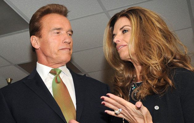 Arnold Schwarzenegger i jego żona Maria Shriver  /AFP