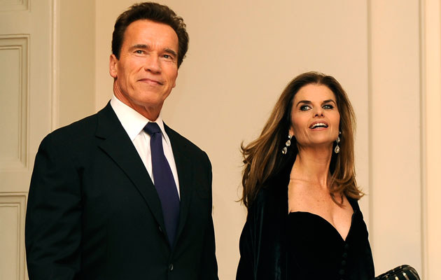 Arnold Schwarzenegger z żoną, fot. Pool  /Getty Images/Flash Press Media