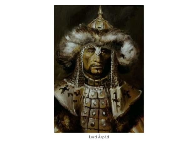 Arpad, jeden z pierwszych węgierskich wodzów, wizerunek za stroną Kurultaj.hu. /