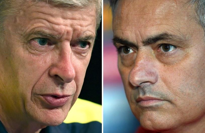 Arsene Wenger (L) i Jose Mourinho nie darzą się sympatią /AFP