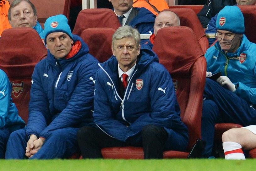 Arsene Wenger podczas meczu Arsenalu z AS Monaco /PAP/EPA