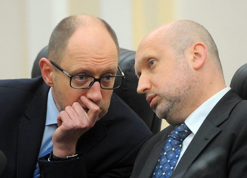 Arsenij Jaceniuk i Oleksandr Turczynow /Andrew Kravchenko /PAP/EPA