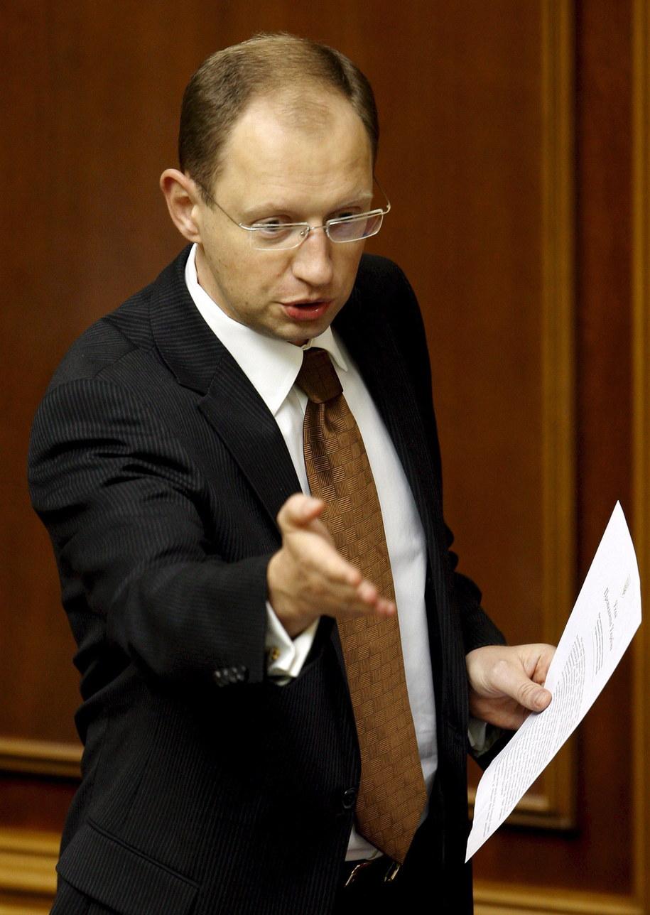 Arsenij Jaceniuk wypowiedział się kategorycznie przeciwko federalizacji Ukrainy /SERGEY DOLZHENKO /PAP/EPA