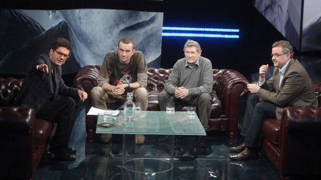 Artur Andrus, Tomasz Kot, Stanisław Mikulski u Kuby Wojewódzkiego /Wojciech Kurczewski /TVN