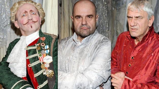 """Artur Barciś, Cezary Żak i Wiktor Zborowski jako bohaterowie """"Zemsty"""" /Agencja W. Impact"""
