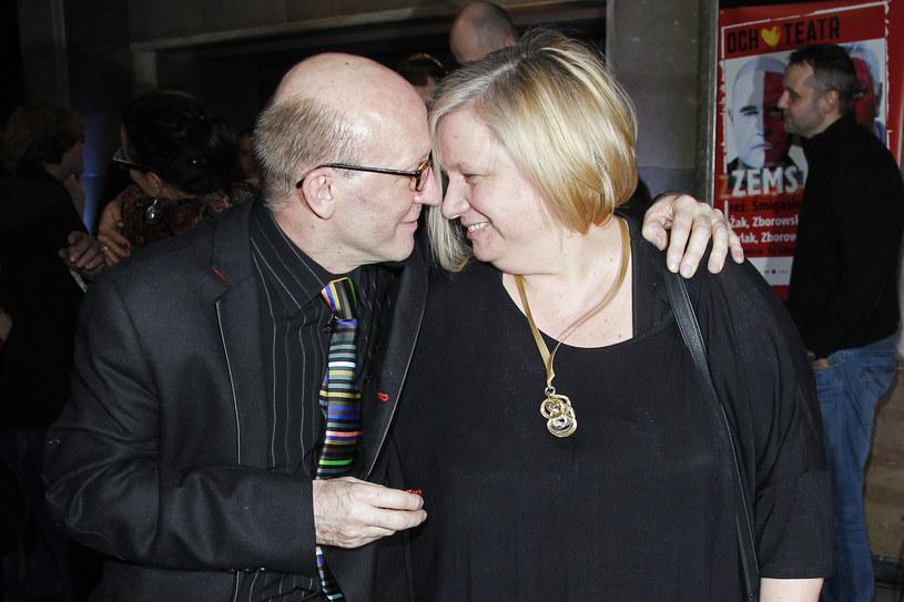 Artur Barciś z żoną Beatą Barciś /AKPA