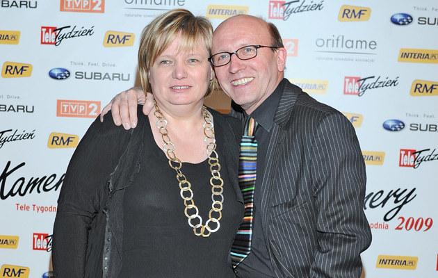 Artur Barciś z żoną /fot.Andras Szilagyi  /MWMedia