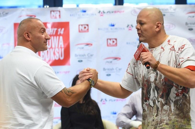Artur Binkowski (z prawej) i Marcin Najman /Fot. Mateusz Jagielski /East News