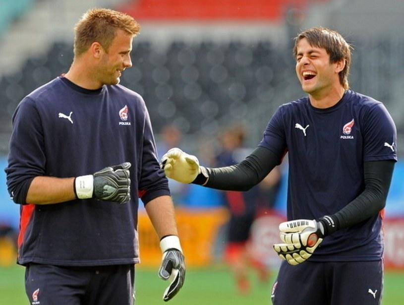 Artur Boruc i Łukasz Fabiański podczas Euro 2008 /AFP