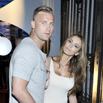 Artur Boruc i Sara Mannei na imprezie
