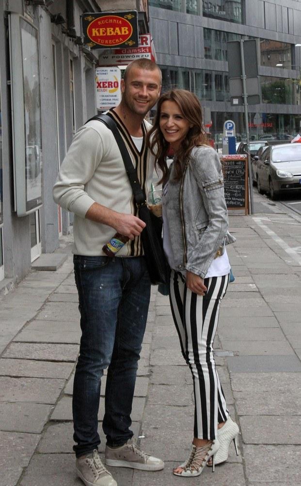 Artur Boruc i Sara Mannei /- /East News