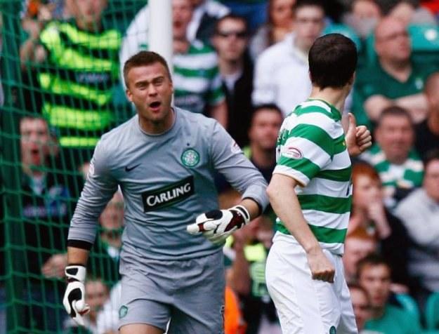 Artur Boruc - najefektowniej broniący golkiper ligi szkockiej /Getty Images/Flash Press Media