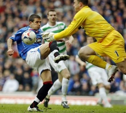 Artur Boruc w bramce Celtiku Glasgow. /AFP