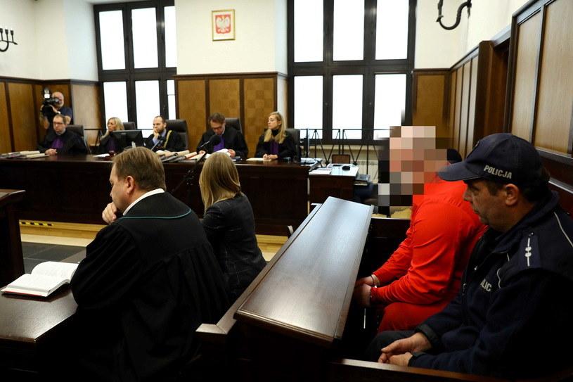 Artur K. na sali rozpraw /Rafał Guz /PAP