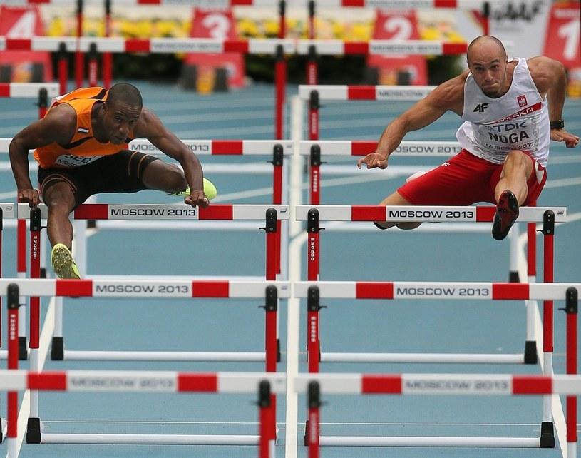 Artur Noga w biegu półfinałowym /PAP/EPA