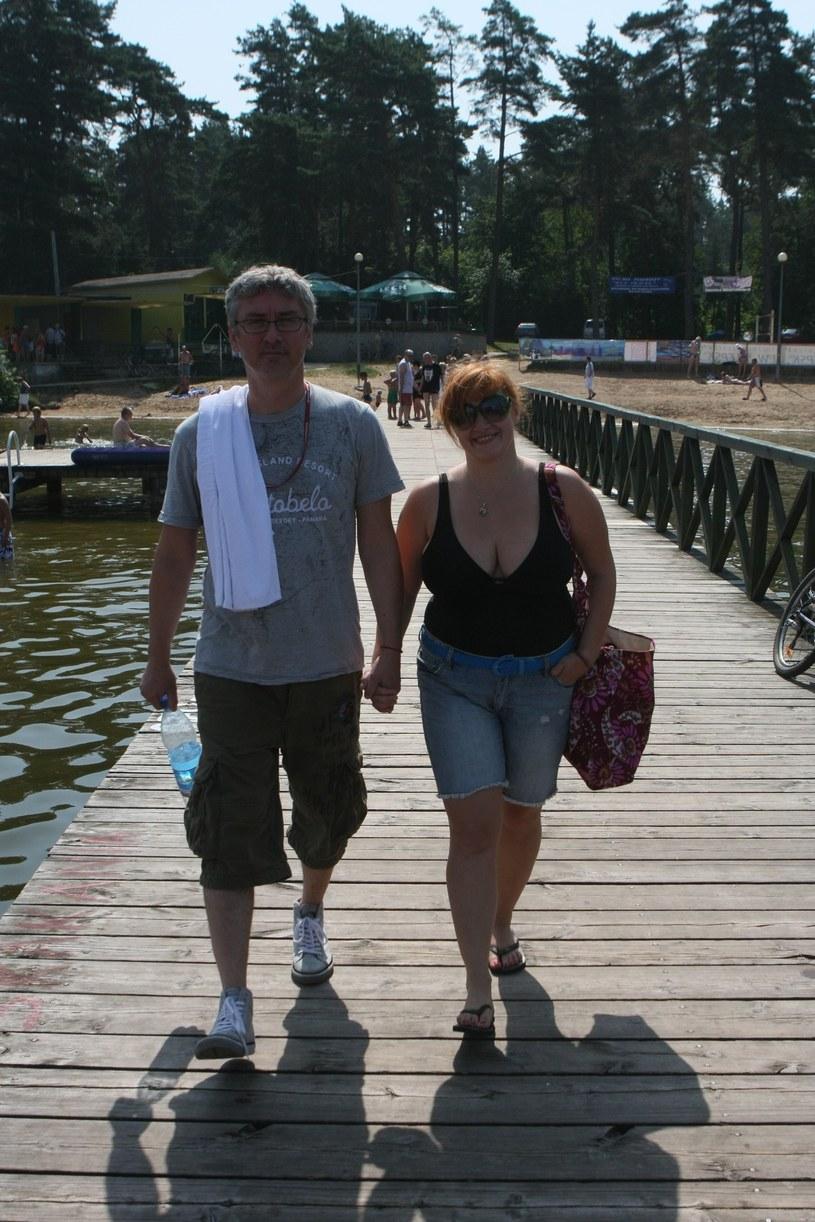 Artur Orzech na zdjęciu z żoną Karoliną (2010 r.) /Tomasz Radzik /East News
