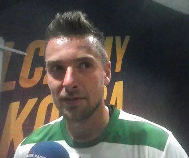 Artur Sobiech (Lechia) po meczu z Piastem Gliwice. Wideo