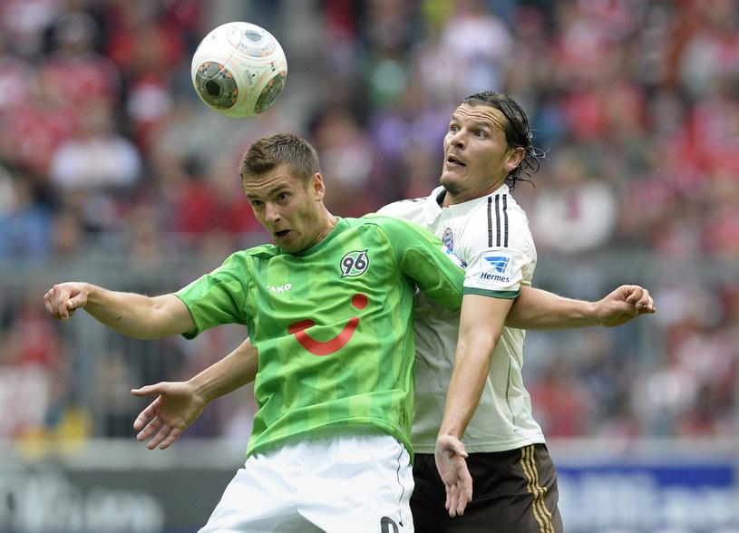 Artur Sobiech (w zielonej koszulce) /AFP