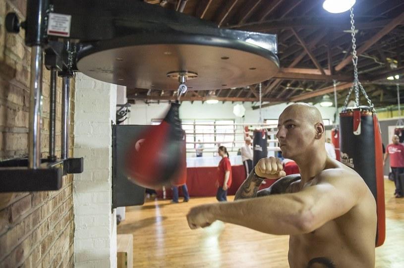 Artur Szpilka w trakcie treningu /Dariusz Lachowski /East News