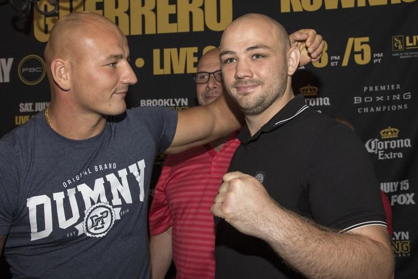 Artur Szpilka (z lewej) i Adam Kownacki zapowiadają grzmoty w ringu /fot. Wojciech Kubik /East News