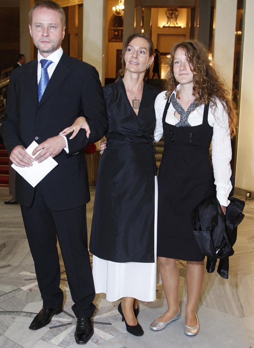 Artur Żmijewski z rodziną, 2007 rok /Kurnikowski /AKPA