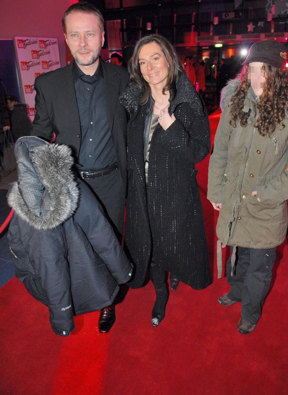 Artur Żmijewski z żoną i córką, 2007 r. /Tricolors /East News